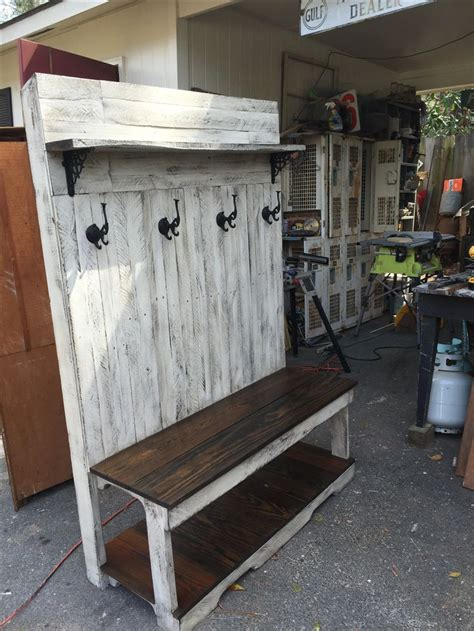 pallet benches pinterest made this bench using 100 pallet wood perfect for storing