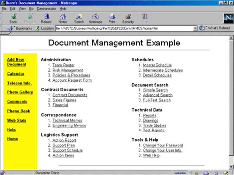 document management system template perl rescues a major corporation