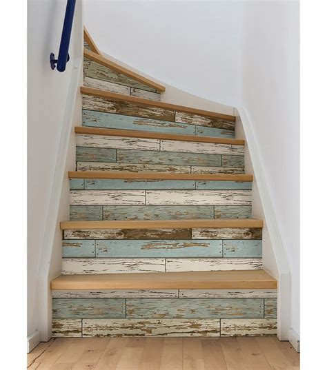 Decoupage Stairs - 25 best ideas about wallpaper feature walls on