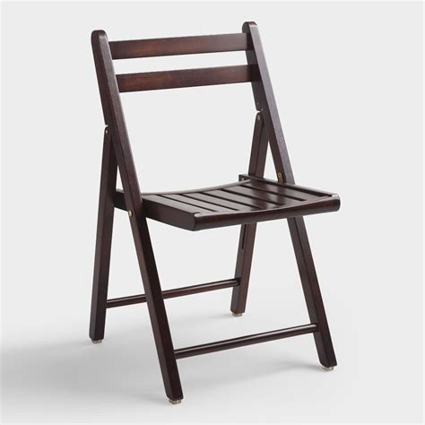 folding chairs wood espresso wood folding chairs set of 4 world market