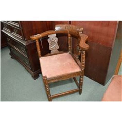 antique corner chair seat antique carved oak corner chair with upholstered seat
