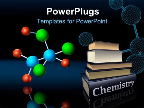 Powerpoint Template Colorful Molecular Structure And Wireframe Model With Chemistry Books 20546 Powerpoint Templates Chemistry Free
