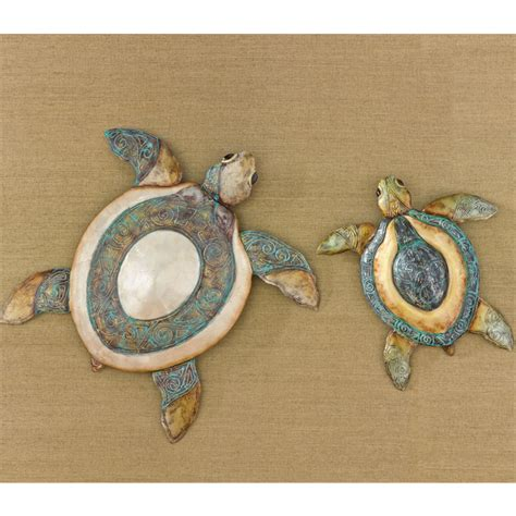 sea turtle home decor sea turtle wall decor set of 2