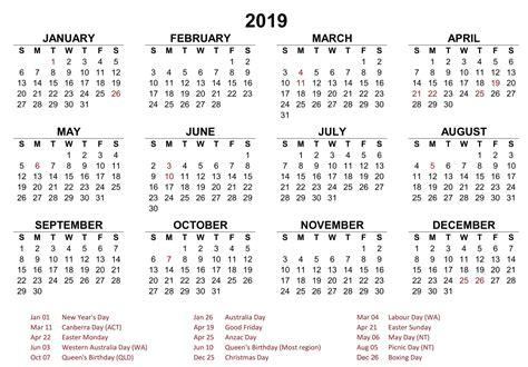 yearly calendar australia printable  printable  calendar template word