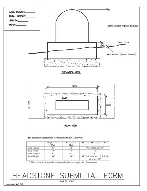 Fillable Tombstone Template Fill Online Printable Fillable Blank Pdffiller Headstone Design Templates