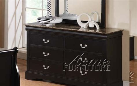 acme furniture louis phillipe iii cherry finish acme furniture louis phillipe iii black finish dresser