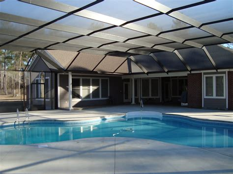 Metal Roof Awnings Pool Enclosures Usa Which Pool Enclosure Design Is The