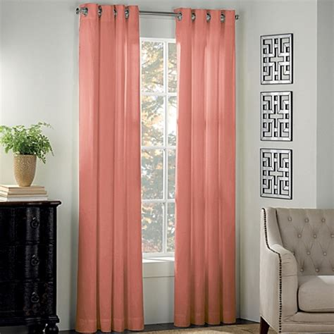 salmon colored drapes newport grommet window curtain panel bed bath beyond