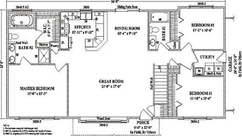 ranch style open floor plan modular prow ranch tlc prescott by wardcraft homes ranch floorplan house plans