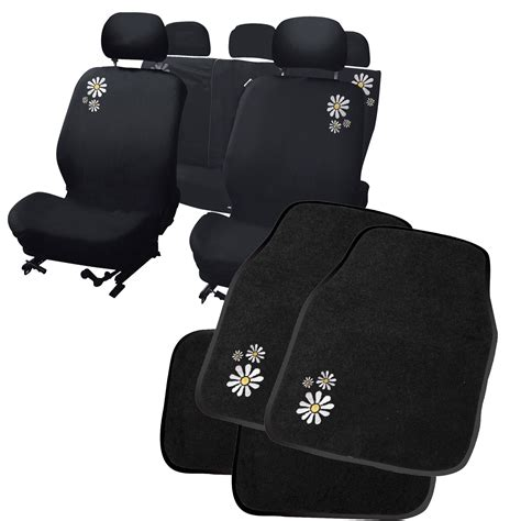 Car Mats And Seat Covers by Carpoint Flower Car Seat Covers Floor Mat Set