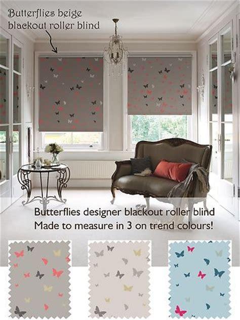 patterned blackout blinds bedroom butterflies blackout patterned roller blind a designer