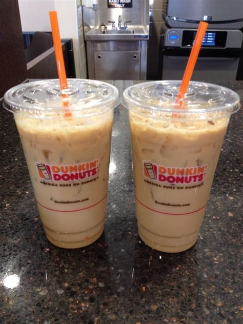 Iced Coffee Dunkin Donuts happy hour 4 6pm 99 cent medium iced coffee max 2 per