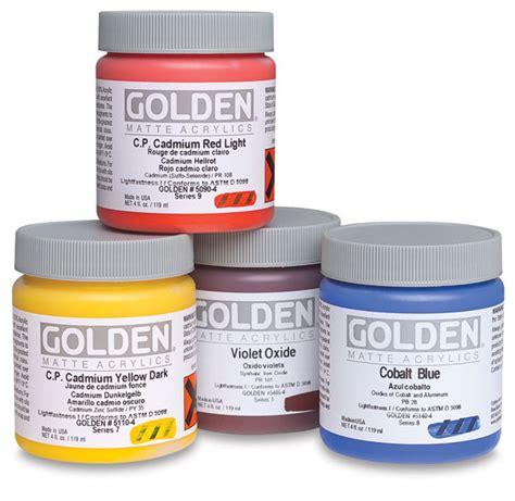golden heavy matte artist acrylics blick materials
