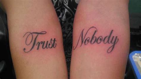 no trust tattoo designs trust tattoos trust nobody ideas