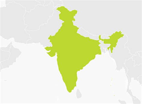 india on map map of india