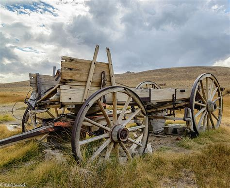 Horse Duvet Cover Old Buckboard Wagon Photograph By Mike Ronnebeck