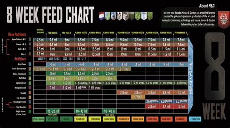 house and garden feed chart