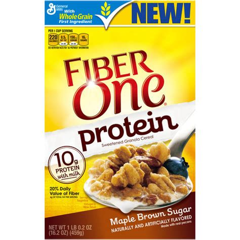 protein cereal fiber one protein maple brown sugar cereal 16 2 oz