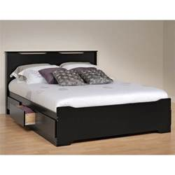 prepac coal harbor platform storage w headboard
