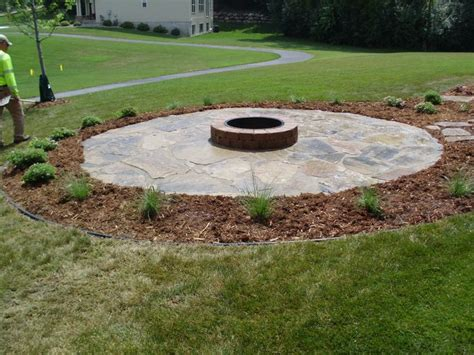 pit landscaping petrified seashore patio and pit landscaping ideas