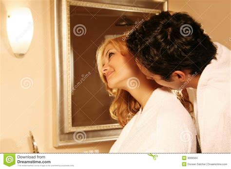 kissing couple in bath stock images image 3006564