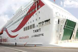 photos le nouveau car ferry tanit arrive au port de la
