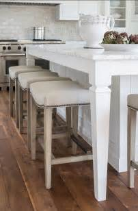 Kitchen Island Bar Stool White Kitchen With Inset Cabinets Home Bunch Interior