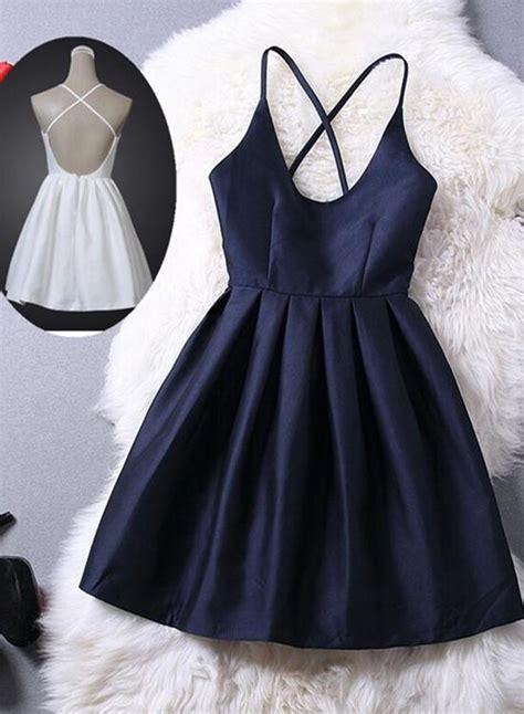 lovey blue graduation dresses short navy blue women
