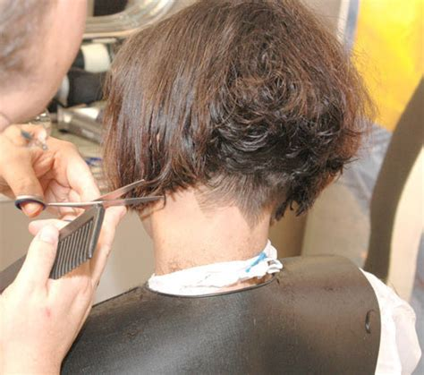 nape hair images on women inverted bob with shaved nape short hairstyle 2013