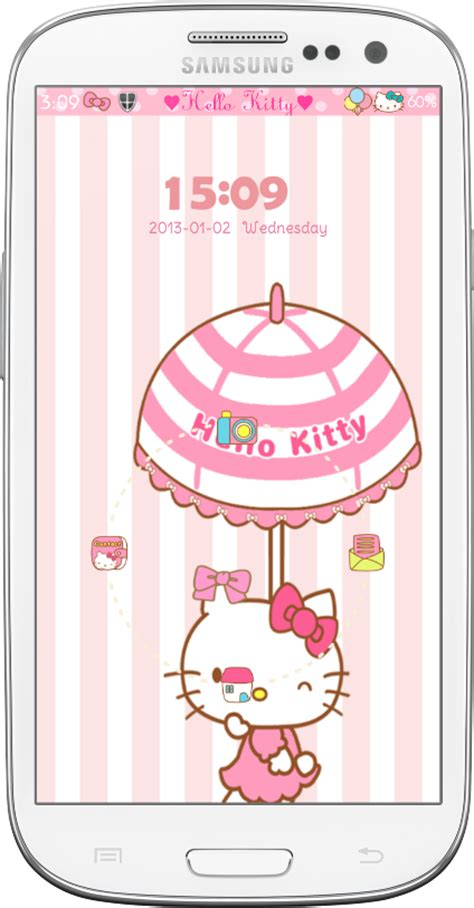 hello kitty locker themes pretty droid themes hello kitty car ride go locker themes