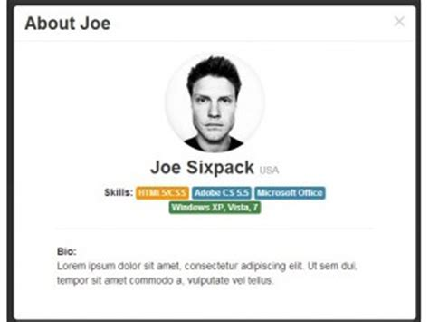 bootstrap profile layout bootstrap user code exles bootsnipp com