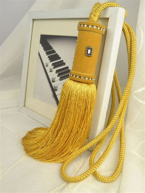 yellow curtain tie backs 6 colors qym29 polyester curtain tassel tie backs in