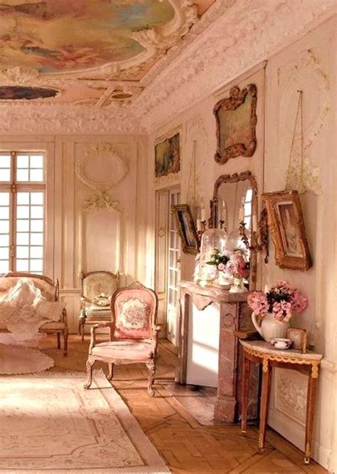 vintage shabby pink not too shabby look at that ceiling
