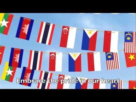 asean anthem let us move ahead asean anthem the asean way doovi