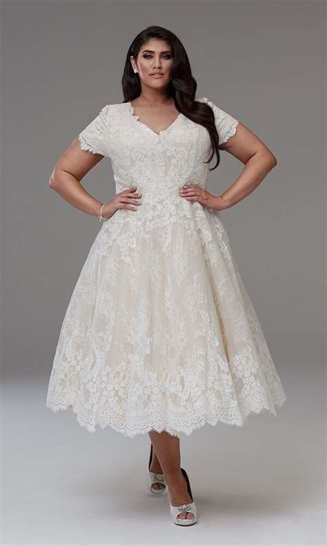 Short wedding dress Plus size   Diana short wedding