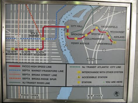 patco map transit in philadelphia a confusing array of choices