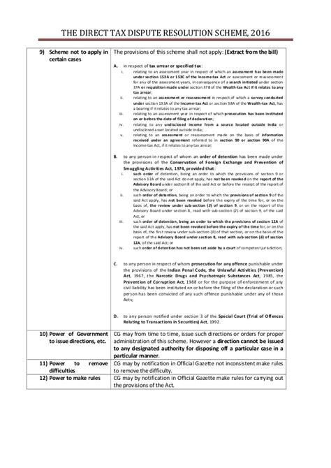 section 37a of income tax act the direct tax dispute resolution scheme 2016