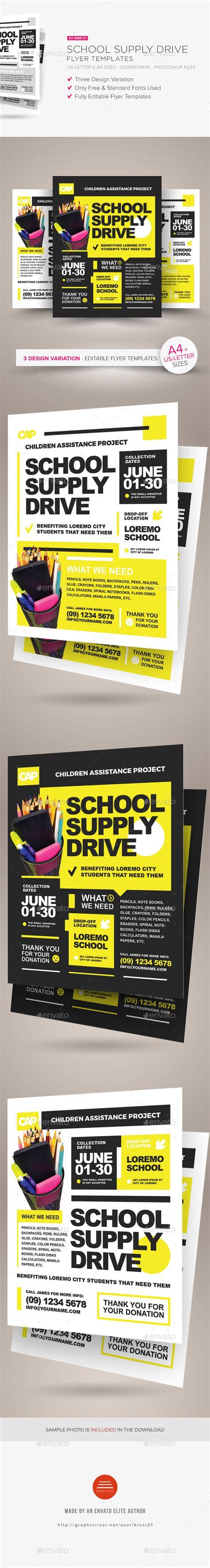 school supplies flyer template design school supply drive flyer templates by kinzi21 graphicriver