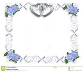 wedding invitation border blue roses stock images image