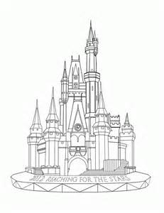 Disney World Castle Outline by Disney World Castle Coloring Page Coloring Home