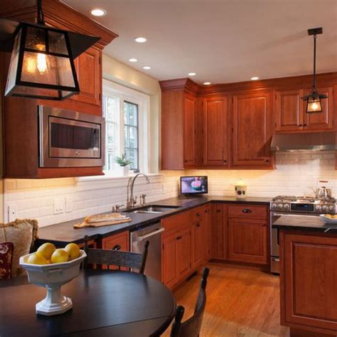 Which Color Subway Tile For Maple Cabinets And Granite - 25 best ideas about cherry cabinets on cherry