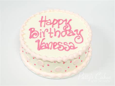 Photo of a simple pink round birthday cake   Patty's Cakes