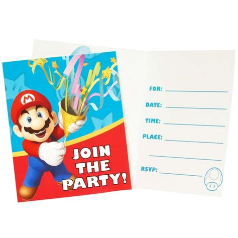 super mario party invitations this party started