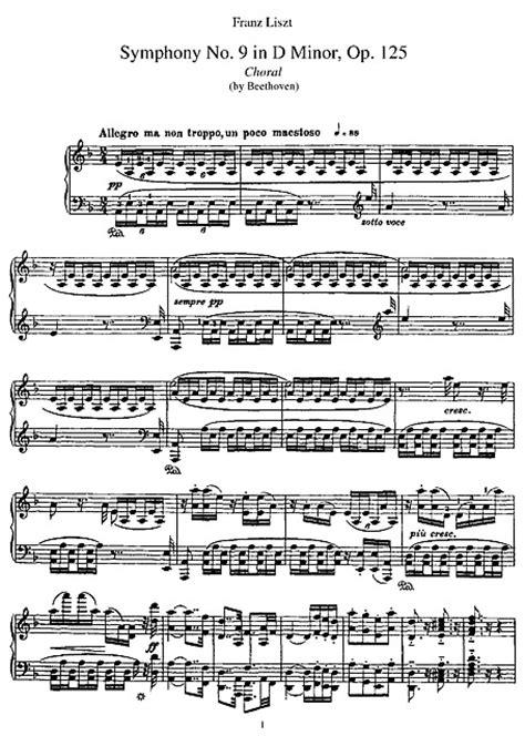 beethoven 9 sinfonia piano sinfonia n 9 symphony no 9 liszt transcription