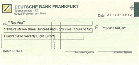 deutsche bank cheque cheque writing printing software for germany banks