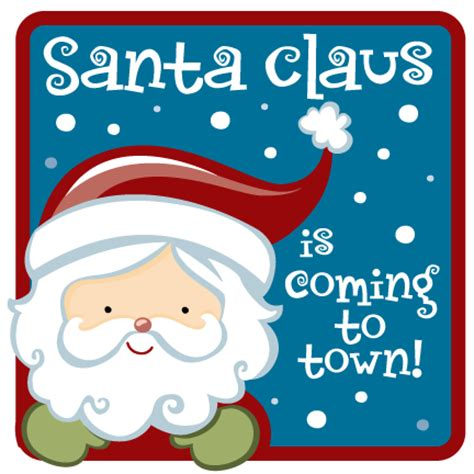 Image result for santa clause is coming to town clip art