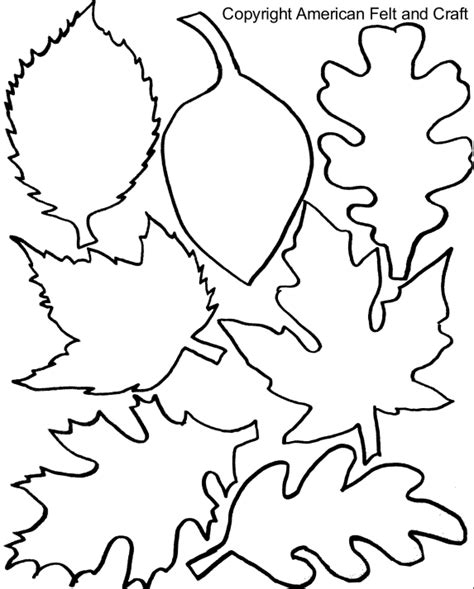 autumn leaf template free printables fall felt leaves with templates american felt craft