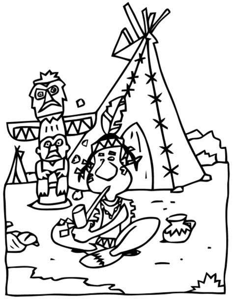 Hutte Indienne by Coloriage Hutte Indienne 224 Imprimer