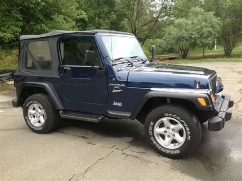 2001 Jeep Wrangler 4 0 Find Used 2001 Jeep Wrangler Sport 5 Speed 4 0