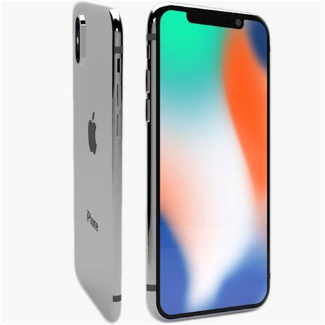 3 Iphone X Models by Iphone X 3d Model Turbosquid 1235846